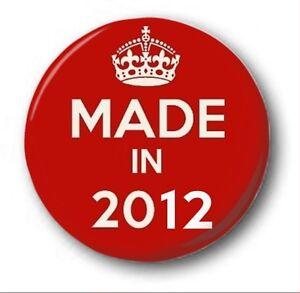 fabricado-en-2012-2-5cm-25mm-Boton-Insignia-Lindos-6th-Cumpleanos