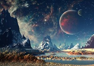 Awesome-Alien-Planet-Poster-Print-Size-A4-A3-Outer-Space-Poster-Gift-8078