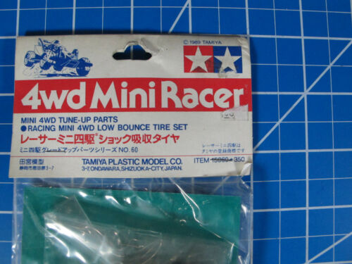 Tamiya 1//32 VINTAGE 4WD MiniRacer  #15060 Low Bounce Tire Set Tune-Up Parts