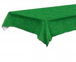 Elegant 9ft X 4 5ft Green Grass Print Plastic Tablecloth Party Decor Table Cover Ebay