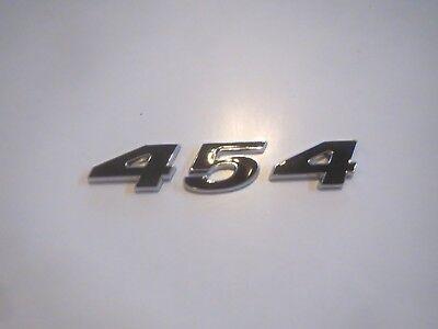 RED CHEVROLET 454 ENGINE ID FENDER HOOD SCOOP QUARTER TRUNK EMBLEM