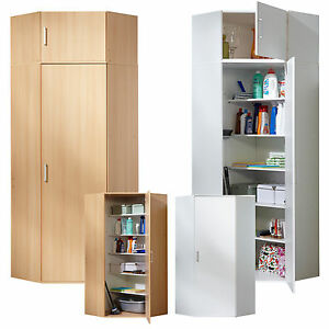 eckschrank mehrzweckschrank aktenschrank flurschrank 1 t rig weiss buche ebay. Black Bedroom Furniture Sets. Home Design Ideas