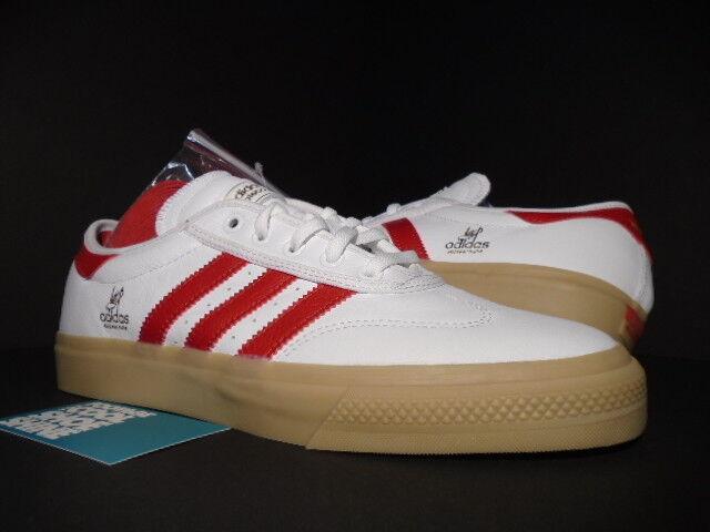 Adidas AdiEase Universal ADV Blanco Busenitz Scarlet Rojo Goma Busenitz Blanco Boost B72588 9.5 329b6d