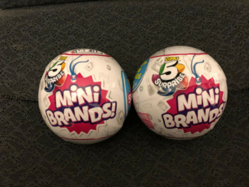 HTF Lot of 2 5 Surprise Mini Brands Factory Sealed Balls FAST SHIPPING HOT TOY