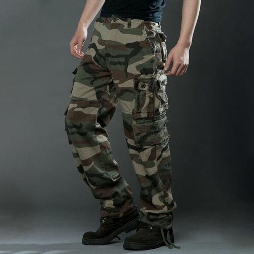 Herren Cargohose Army Militär Wanderhose Arbeitshosen Taschenoverall Combat Hose