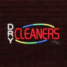 Brand New Dry Cleaners Withcolor Border 32x13x1 Inch Led Flex Indoor Sign 30786
