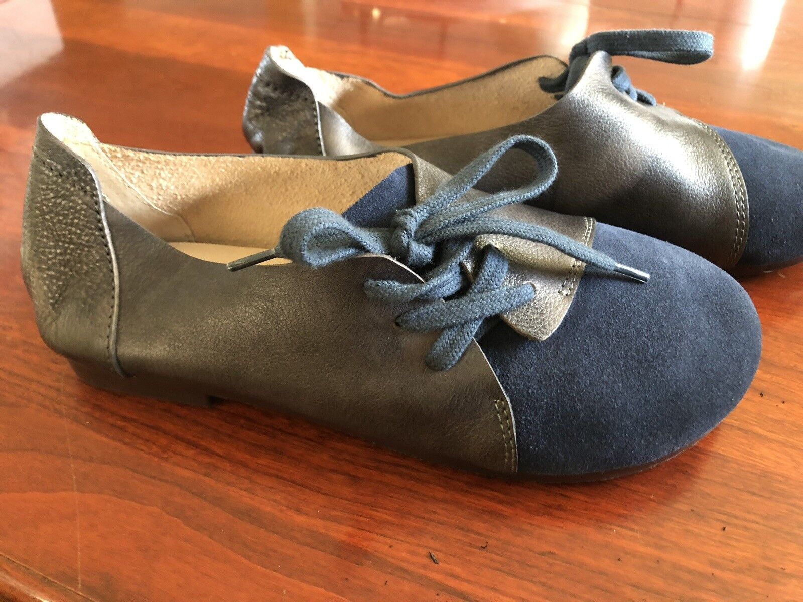 Women's Grey Leather bluee Suede shoes shoes shoes - Size 9 3a5331