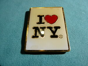 Collectable-Vintage-Metal-Fridge-Magnet-I-Love-NY-Free-Postage