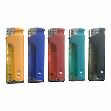 5 - Flags Refillable Butane Lighter Assorted Colors With LED Light - Pack of 5