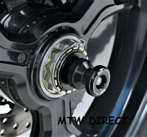 2009-2010 R/&G PAIR BLACK SPINDLE SLIDERS  for Ducati 1198S SS0018BK
