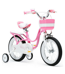 RoyalBaby Little Swan Children's Pedal Bicycle & Stabilisers - 2 Sizes