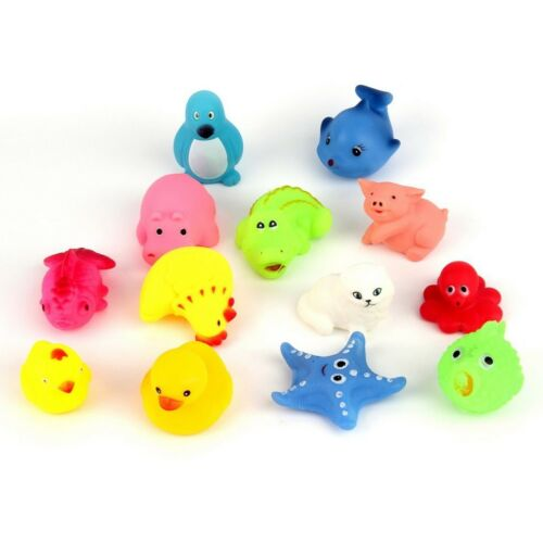 Floating Rubber Mixed Animals Duck Water Toys for Baby Kids Toddler Bath 13 PCS