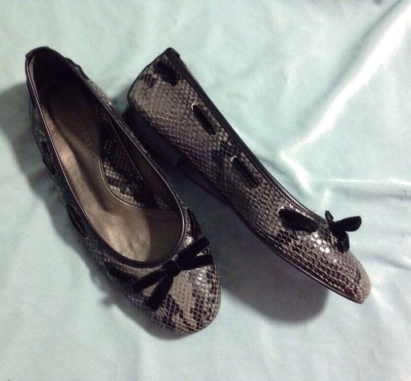 BELLOFATTO Snakeskin Ballet Flats Sz 9 Made In