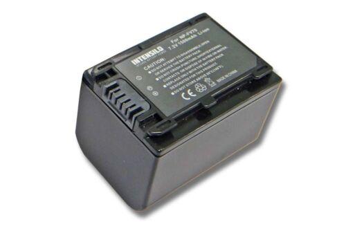 ORIGINALE intensilo ® BATTERIA 1.500mah per Sony Handycam dcr-sx45e//dcr-sx45er