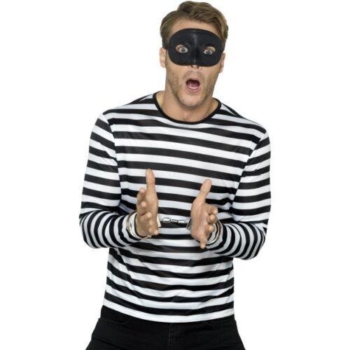 Men/'s Women/'s rapinatore 3 Pezzi Kit Costume Carcerato Addio al Celibato Nubilato Party a tema Divertente