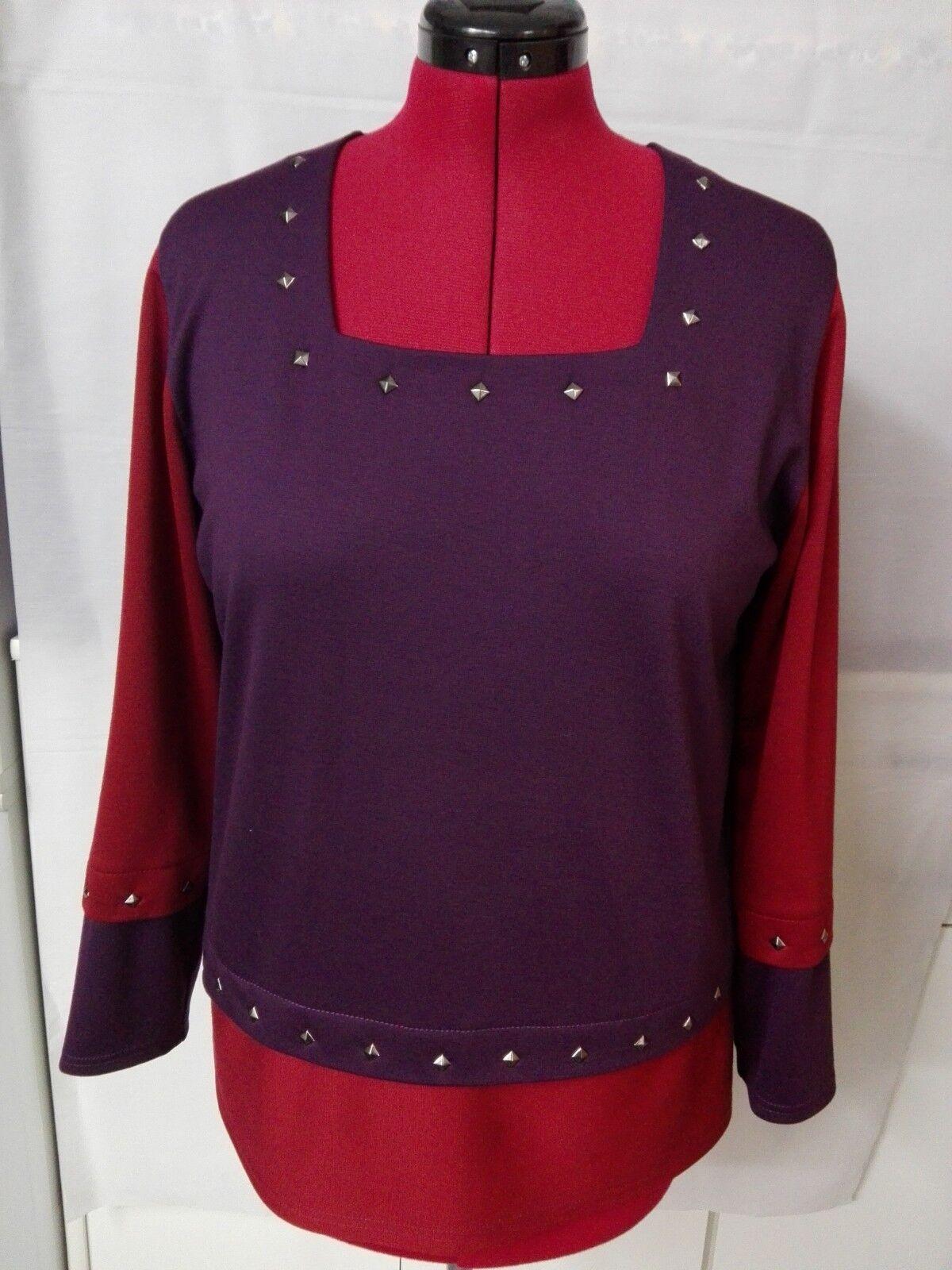 Damen Shirt Jersey Shirt Lang Ärmel lGr.46-48