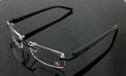 NEW Authentic TAG Heuer Trends Brushed Noir Noir EyeGlasses Frame TH 8104 009