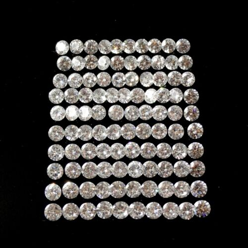 CUBIC ZIRCONIA STAR CUT synthetic gemstone diamond 100pc lot 1mm to 2mm starcut