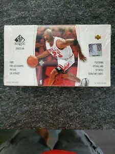 2003-04-Upper-Deck-SP-Authentic-Basketball-Hobby-Box-Factory-Sealed-Lebron-23