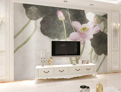 3D Ink And Lotus  88 Wall Paper Murals Wall Print Wall Wallpaper Mural AU Kyra