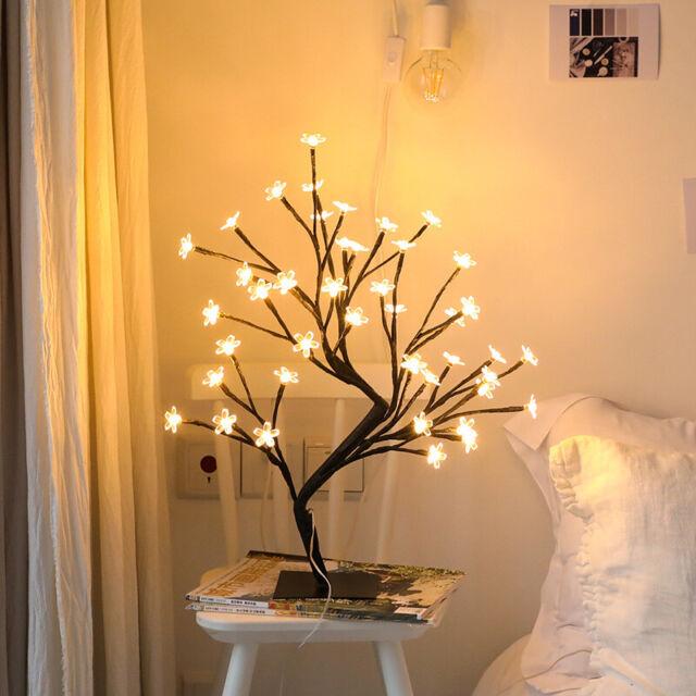 Usb Led Cherry Blossom Light Desk Bonsai Tree Table Lamp Home Decor Night Light For Sale Online