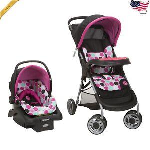 Travel System For Girls Lightweight Infant Car Seat Set Newborn