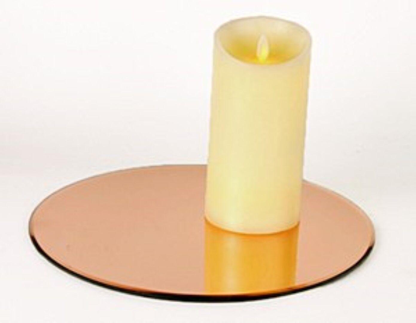 10 or Rose 20cm 30cm 40cm ronde en verre miroir plaque table de Mariage Décoration