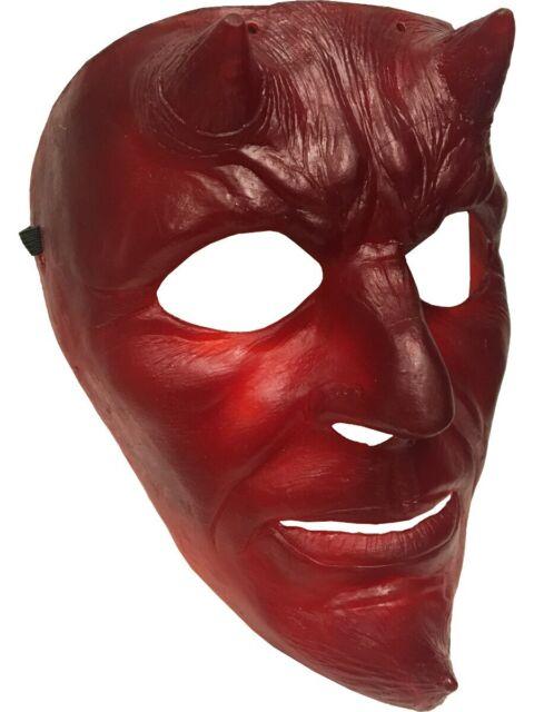 Brimstone Mask Red Devil Satan Lucifer Scary Halloween Adult Costume Accessory