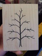 LEAFLESS TREE Denami Design Rubber Stamp NATURE Bare Winter Fall Scene Maker