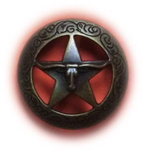 1 Stück Concho LONGHORN 38 mm Neu Schraubconcho Western Cowboy  Accessoires
