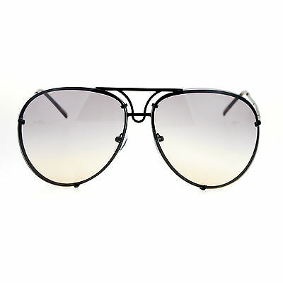 SA106 Retro Vintage Rimless Oceanic Lens Aviator Sunglasses