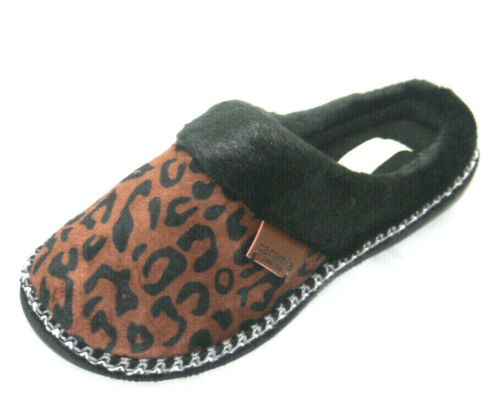 Femme Haute Qualité Coffret chaussons zèbre léopard doux et confortable dur semelle