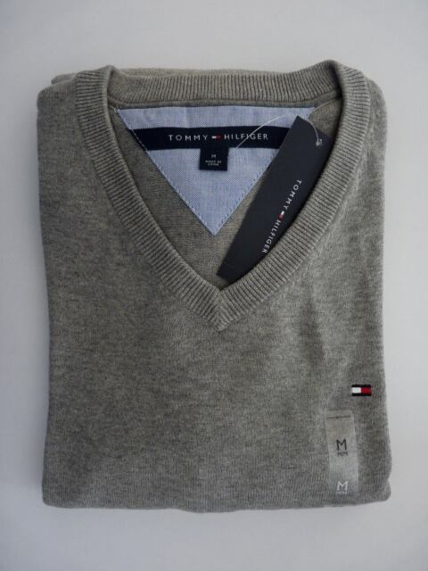 Tommy Hilfiger Sweater Pacific V-neck Mens Pullover Classic Fit Long ... 014788954