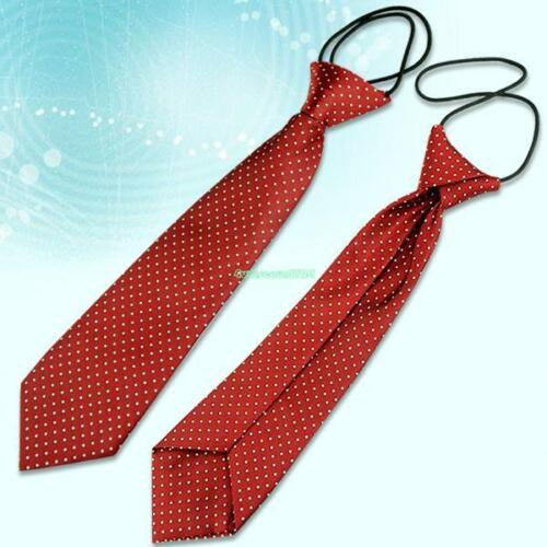 10 Styles Ties School Boys Girls Kids Elastic Necktie Wedding Party Holiday Tie