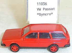 Vw-passat-syncro-rouge-Mesureur-EUROMODELL-11036-h0-1-87-OVP-ll1-a