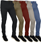 Mens-Skinny-Fit-Stretch-Chino-Trousers-Casual-Flat-Front-Super-Skinny-Pants miniatura 1