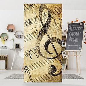 Raumteiler note vorhang fl chenvorhang schiebegardine mit bild motiv musik deko ebay - Deko vorhang raumteiler ...