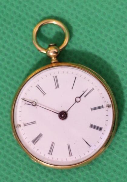 100% Verdadero Esmalte Miniature Lady's Reloj De Bolsillo Geneve Alrededor 1830