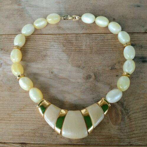 Gift for Her Translucent Beaded Necklace Christmas Lucite Long Necklace Signed Mark Lucite Necklace Plastic Beads Vintage Necklace