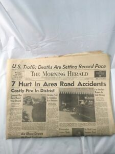 Details about Morning Herald Newspaper Old Uniontown Fayette County  Pennsylvania July 5 1958