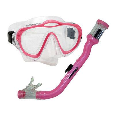 Kid Child Junior Silicone Purge Mask Dry Snorkel Scuba Diving Boy Girl Gear Set