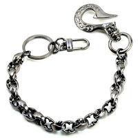 Simple Classic Symbol Emo Biker Trucker Key Jean Wallet Chain (14) Cs105 Black