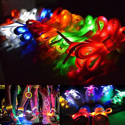 RGB Party For Man Woman Kids 3 Mode LED Light Shoe Laces Luminous Flash Shoelace