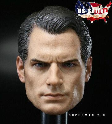 1//6 Henry Cavill Superman Head Sculpt 3.0 Clark Kent For Phicen Hot Toys ❶USA❶