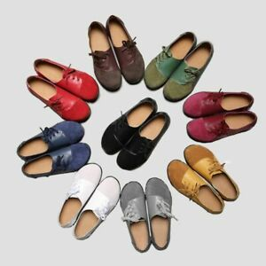 Women-039-s-Ladies-Casual-Suede-Flats-Loafers-Leather-Office-Comfort-Pumps-Shoes