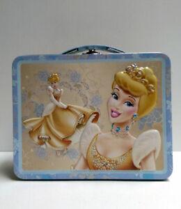 Disney Princess Cinderella Tin Lunch Box Bag Metal Carry All Storage Gift Case
