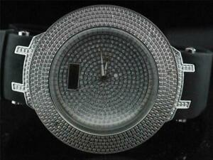 Mens New Bling Ice Big Face Hip Hop Flashy Out Watch with 2 Extra Bezels
