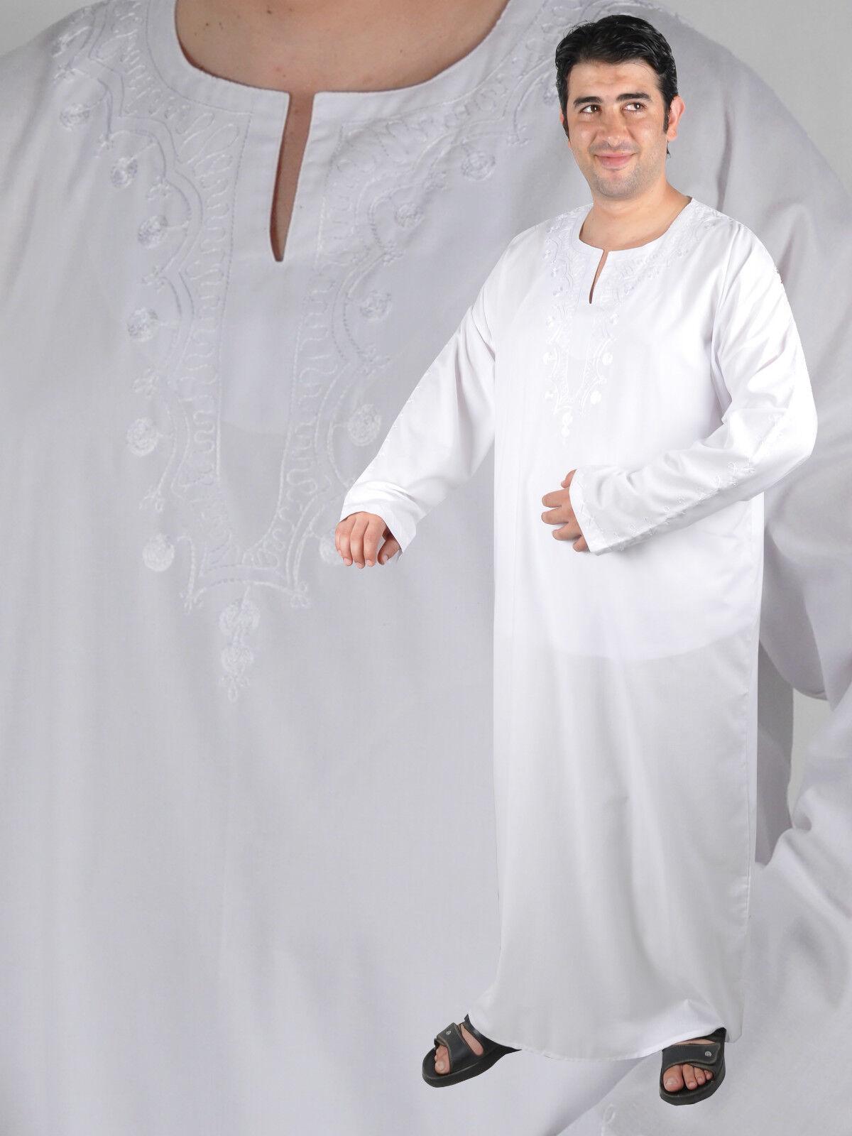 Wunderschöner eleganter Moderner Herren Kaftan Kaftan Kaftan aus1001 Nacht in weiß KAM00163 | Um Sowohl Die Qualität Der Zähigkeit Und Härte  84ba61