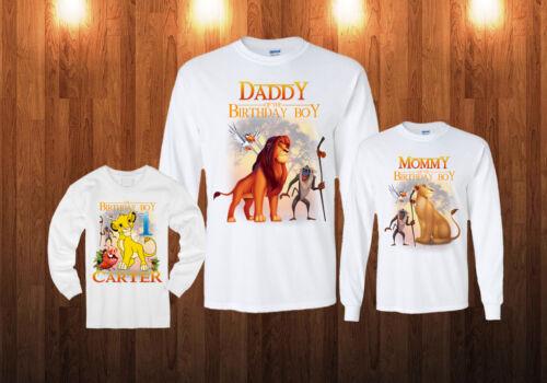 Lion King Birthday Long Sleeve Shirt Personalized Custom white sweatshirt