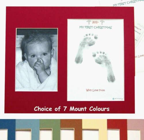 Merry Christmas Baby Inkless Footprint Kit PHOTO MOUNT My 1st Christmas